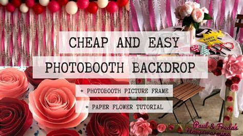 DIY PHOTOBOOTH BACKDROP   CHEAP AND EASY PARTY DECOR   YouTube