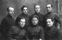 Kursants (cadets) of the Soviet Red Army's Military School of Artillery in Chuhuyiv, 1933