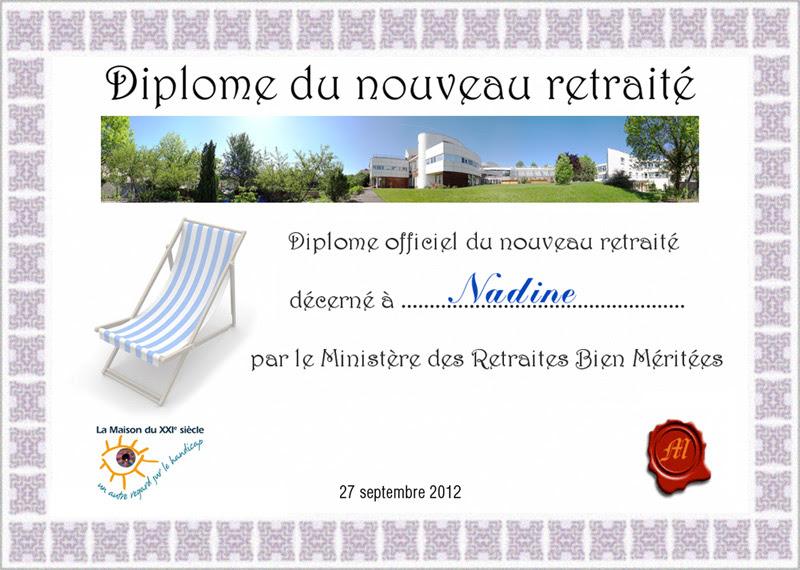 Diplome De Départ à La Retraite