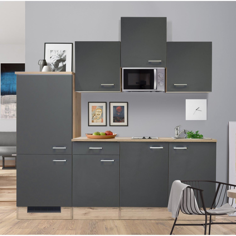 Küche Eiche Hell Modern Arbeitsplatte Rustikal Gebraucht ...
