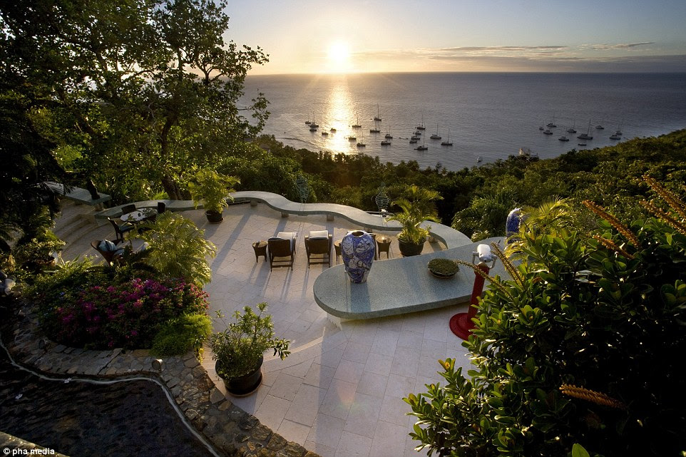 The peaceful hillside hideaway was once described by the 69-year-old glam rock icon as a 'tranquil place' that was so relaxing he found it difficult to write new music there. He purchased the estate shortly before his marriage to supermodel Iman
