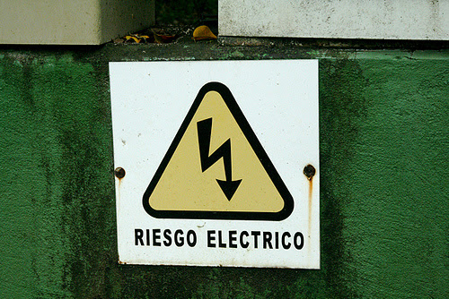Riesgo Electrico Sign Costa Rica Trip 2009 118
