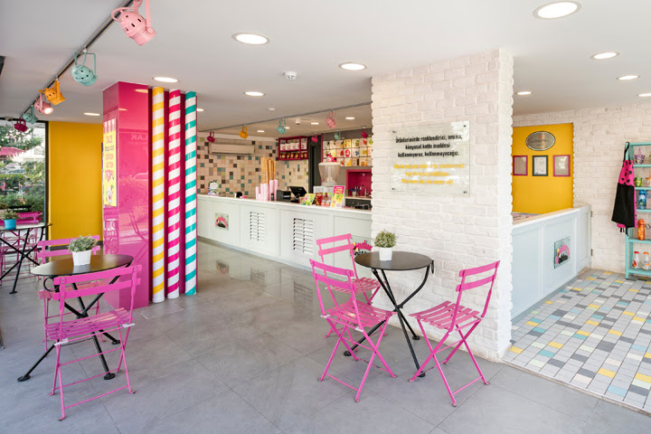 Dondurma Dükkanı Ice Cream Shop By Kst Architecture Interiors