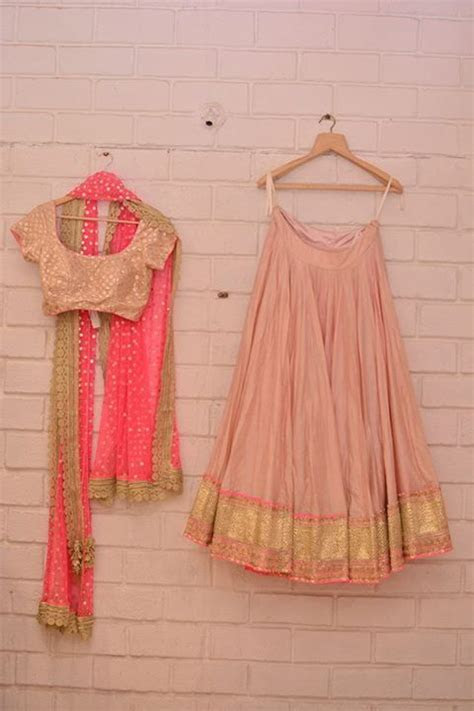Top Picks   Pastel pink & gold lehenga with neon pink
