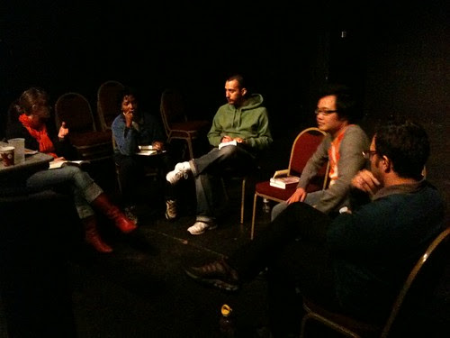 The poets: Leila, Duriel, Jacob, Tim & Daniel