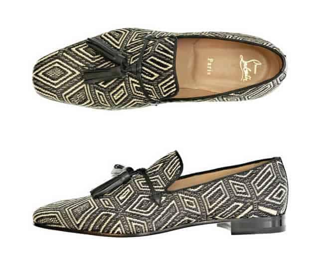 Christian Louboutin Daddy Panama Geometrico loafers
