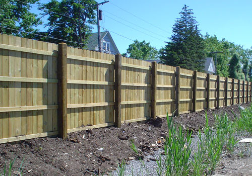 Commercial Wood Fence Panels & Wood Fencing Installation ...