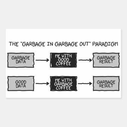Garbage In Garbage Out (GIGO) - Scientists Sticker