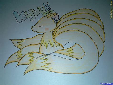 learn   draw  chibi kyuubi anime animals anime