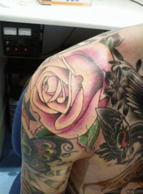 58 Attractive Flower Tattoos On Shoulder