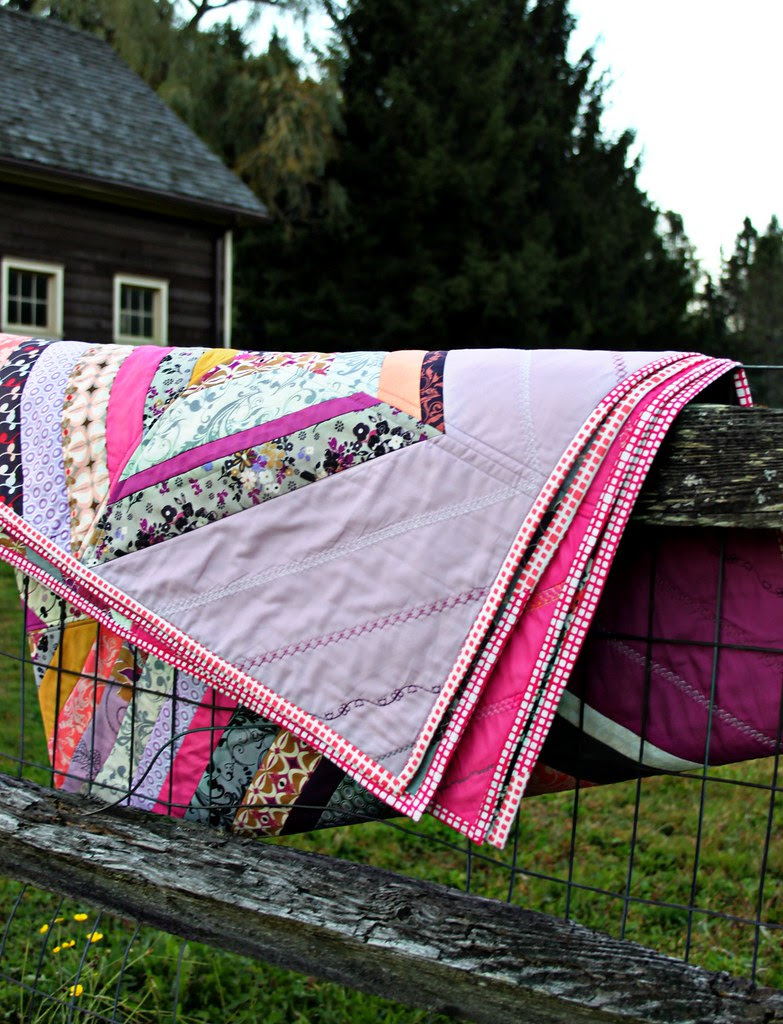 Squared Elements Binding in Fuchsia & Watermelon
