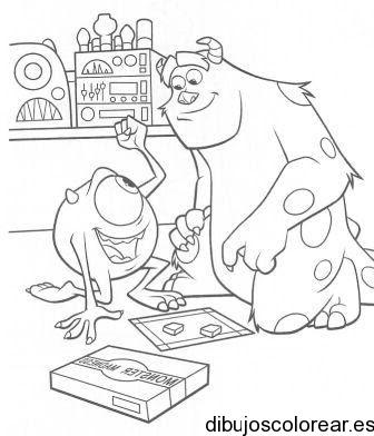 Dibujo De Monsters Inc Jugando