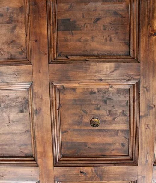 controsoffito a cassettoni in legno vecchio