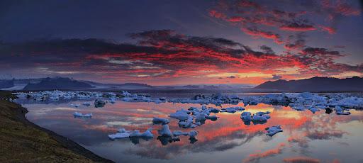 Jokulsarlon,Iceland,Jokulsarlon Iceland,lagoon,glacier,sunset,icebergs,, photo