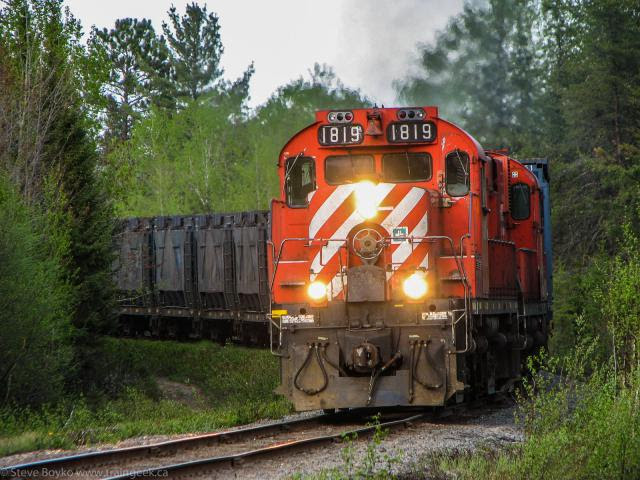 NBEC Train 587 Crossing Highway 430