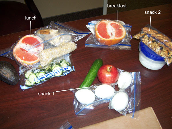 Chelle's clean eating cooler - Monday, March 21, 2011