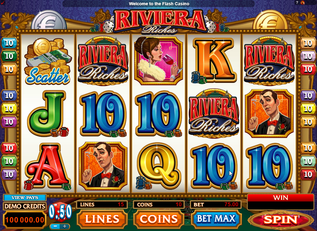 Riviera Riches Slots Machine Review