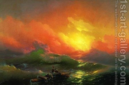 The Ninth Wave (1850). The painting by Ivan Konstantinovich Aivazovsky
