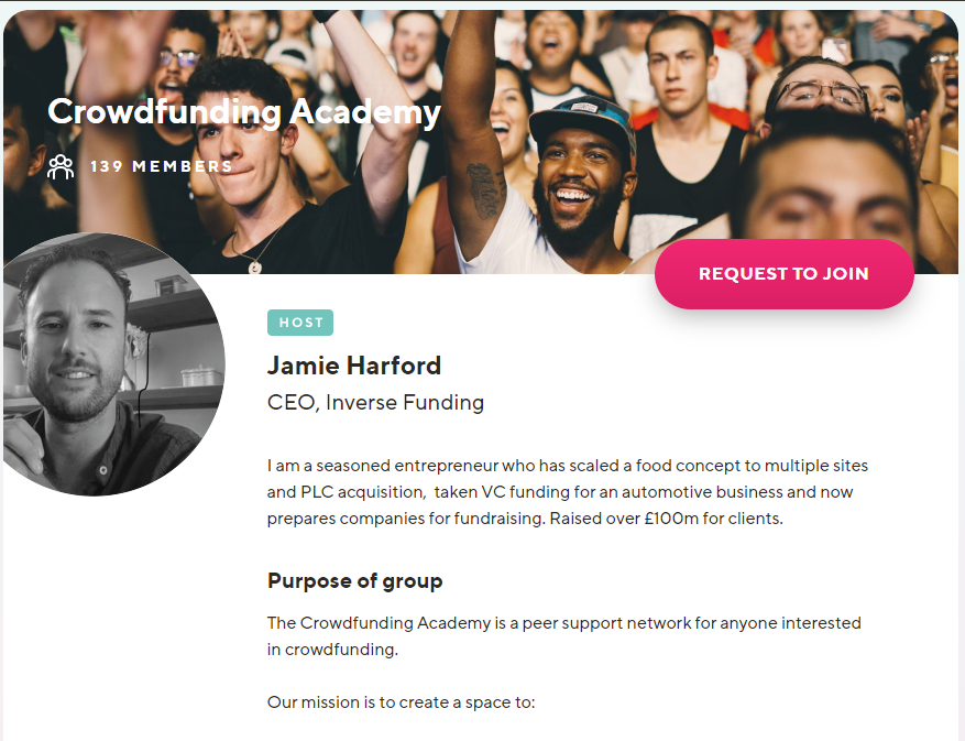The Crowdfunding Academy community on Guild is free to join