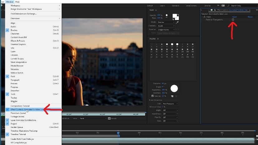 Remove footage from layer and keep paint effect by going to window -> effect controls panel -> paint on transparent