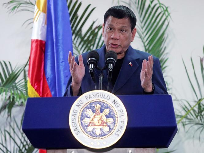 Tổng thống Rodrigo Duterte phát biểu về tuyên bố chia tay Mỹ  /// Reuters