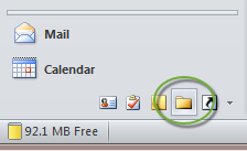 Use Outlook Folder List Selector to open shared mailbox