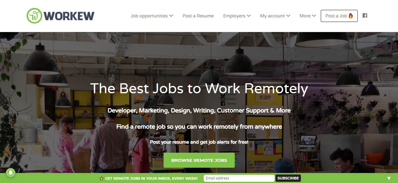 Workew - Remote Jobs Board, best job sites for remote work