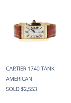 sell cartier tank watch online price