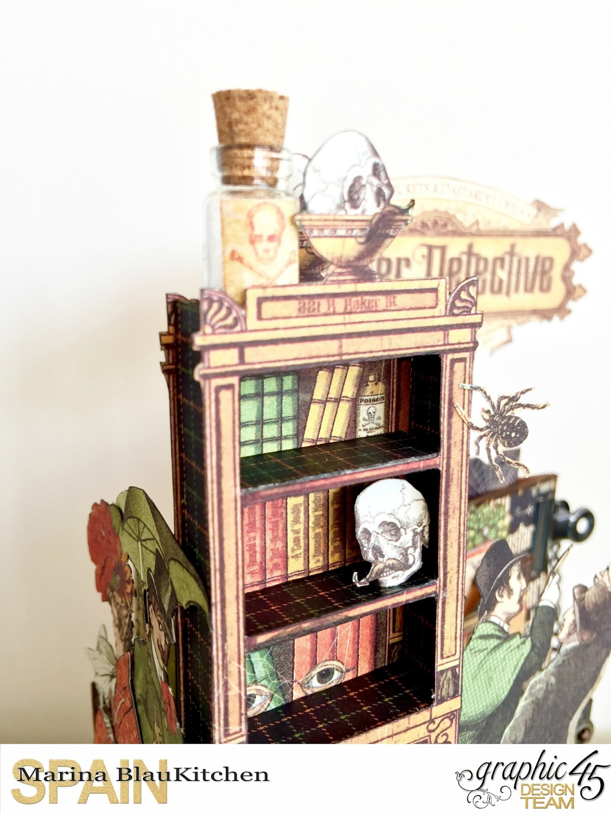 Stand and Mini Album Master Detective by Marina Blaukitchen Product by Graphic 45 photo 5.jpg