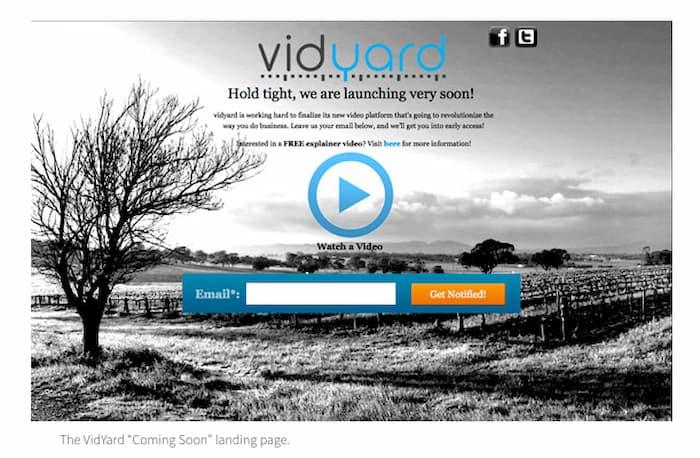 Trang đích của Vidyard có video