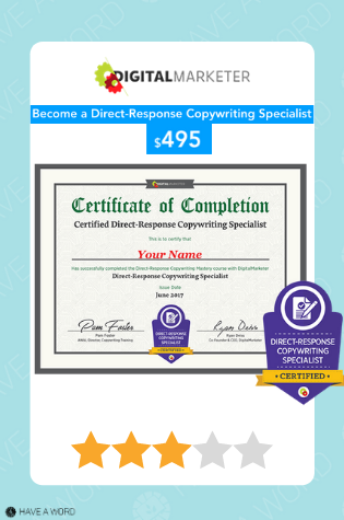 Digital Marketer Become a Certified Direct-Response Copywriter Course review