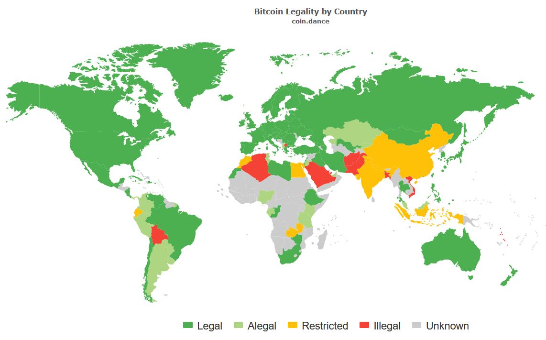 dove è bitcoin legale)