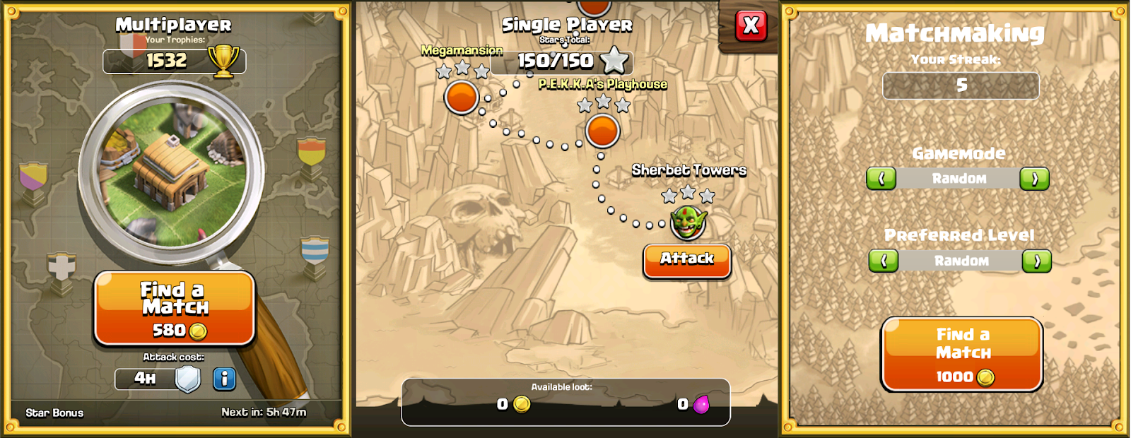 Multiplayer matchmaking coc