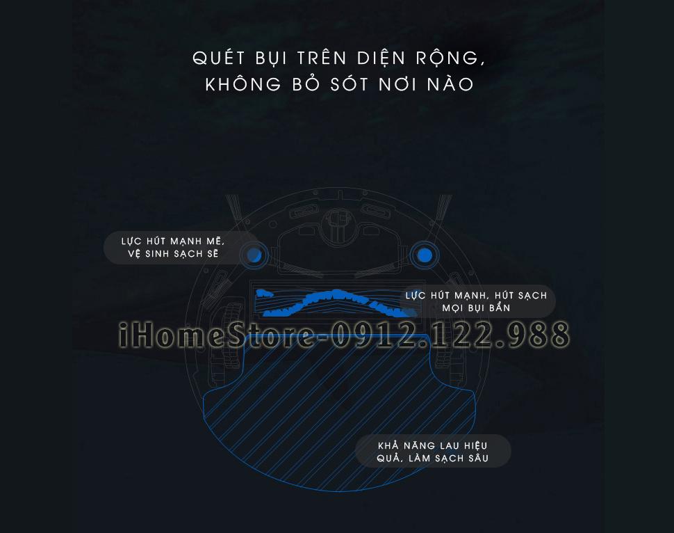 robot lau nha hut bui ECOVACS DT85G - ihomestore.vn