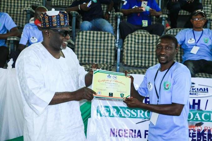 Coaches Vow To Change Football Trend As NLO Berackiah/Abigol Football Coaching Clinic Ends In Lafia