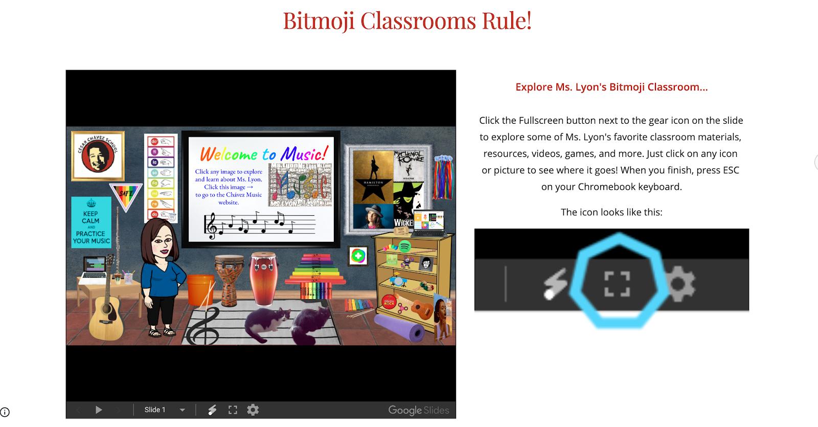 Ms. Lyon's Bitmoji Classroom