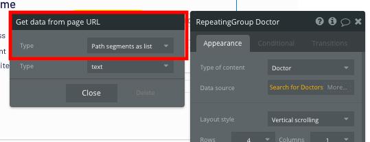 Bubble no code Zocdoc clone tutorial URL path configuration