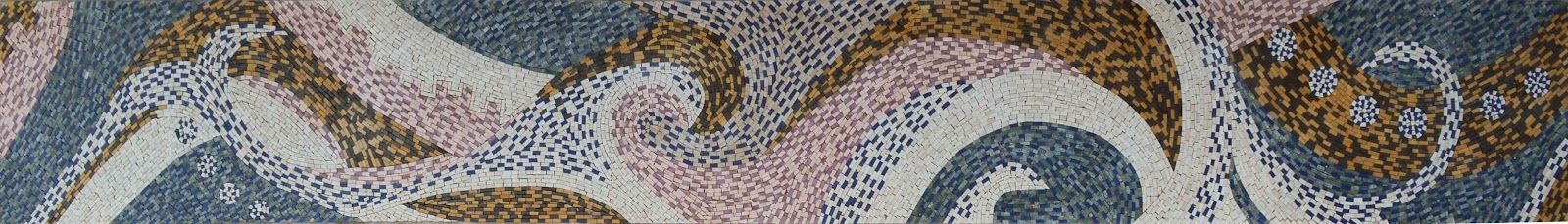 Impressionistic Waves - Abstract Mosaic Pattern by Mozaico