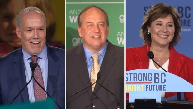 B.C. election night composite