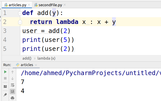 function inside a function