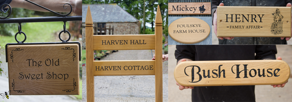 Oak makes for beautiful wooden signs. Its traditional look, lovely grain and durable nature made for an excellent choice.