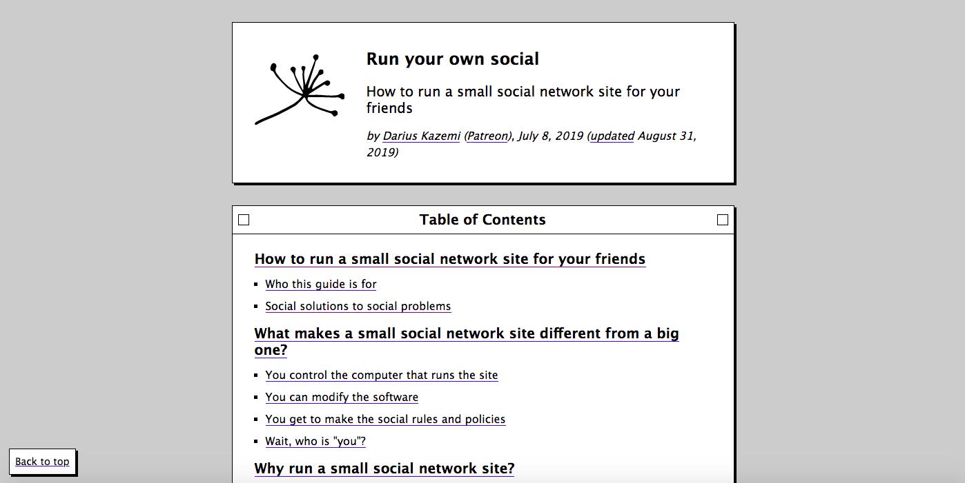 ダリウス・カゼミのRun Your Own Socialの目次。