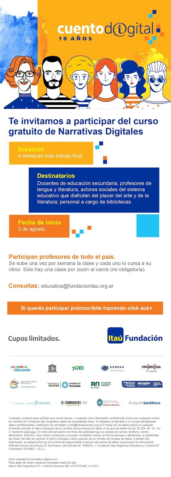 curso narrativas digitales Fundación Itaú
