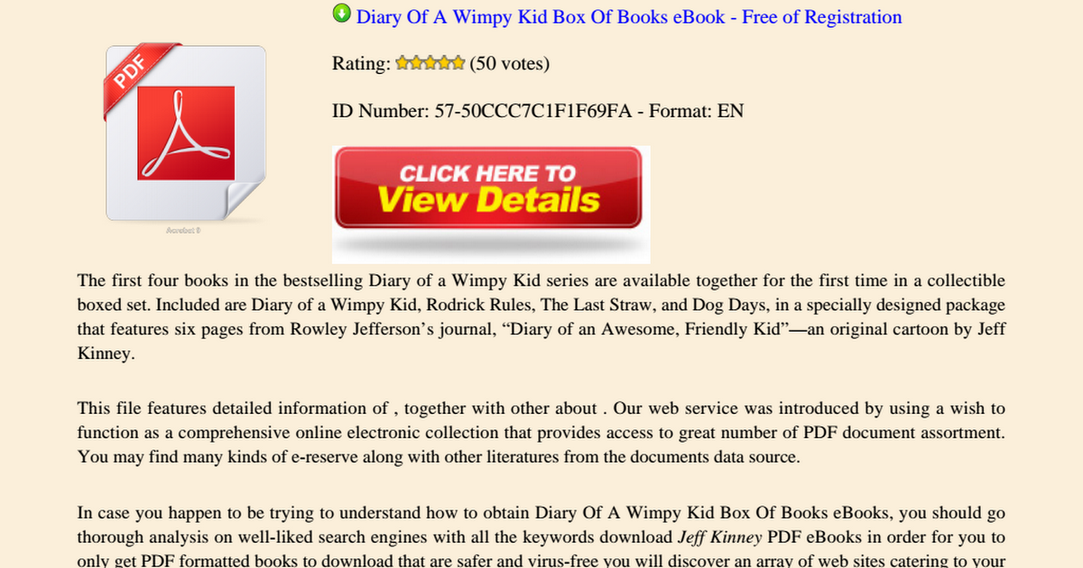Diary Of A Wimpy Kid Box Of Books Pdf Google Drive