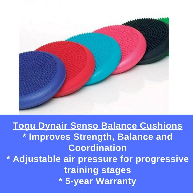 TOGU Balance cushions are designed to aid in improving balance, coordination, and strength training.