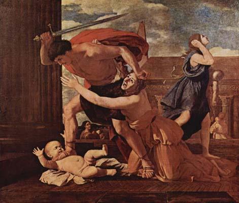 Pintura clásica ilustrando la matanza de los inocentes.