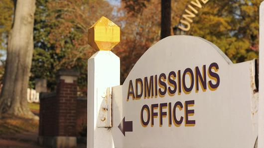 College admissions office
