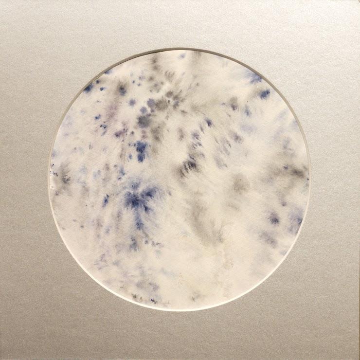 Moon watercolor on paper 21x21cm. / Луна акварел върху хартия