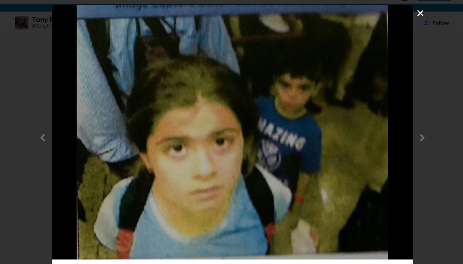 A security camera image shows the Azer children entering northern Iraq on Aug. 15, 2015.