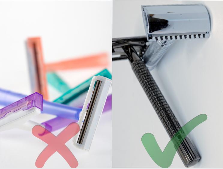 Plastic Disposable Razors vs Reuseable Steel Razors